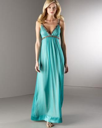 Bianca Nero Chiffon Gown
