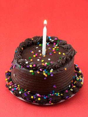 Round Chocolate Cake with Fudge