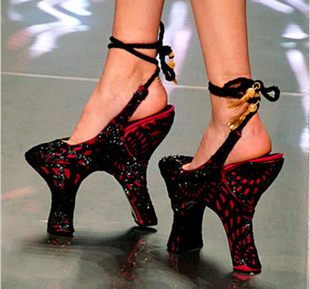 Alexander McQueen Black and Red Shoes