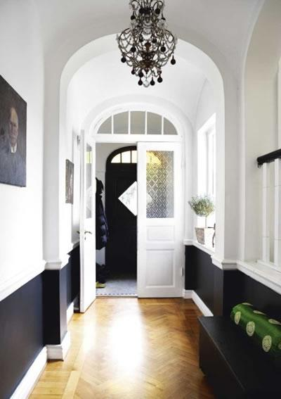 Foyer Design Green : Foyer ideas black and white entryway