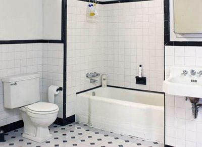 Black and white tiled bathroom - Black and white bathroom ideas