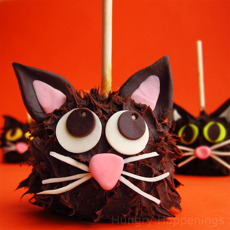 Chocolate caramel apple cats