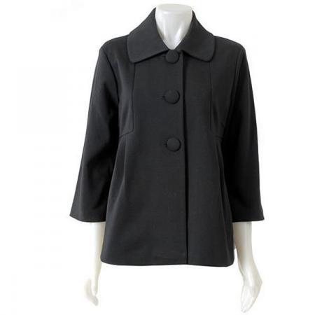 Black Rivet Women's 3-button Swing Jacket