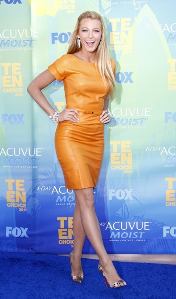 Blake Lively in orange