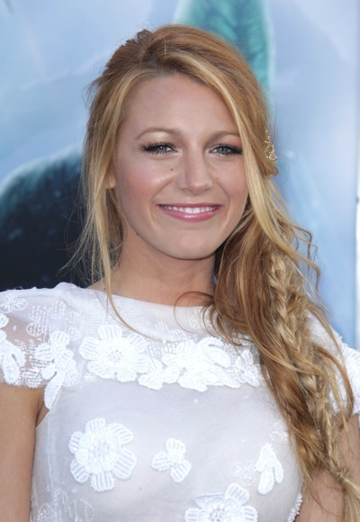 Blake Lively with a single braid