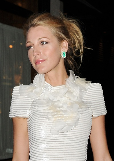 Blake Lively with colorful earrings