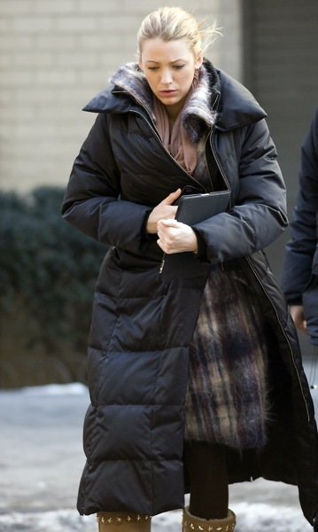 Blake Lively in a parka