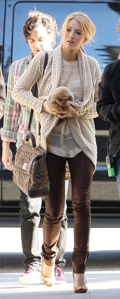 Blake Lively's chocolate colored pants