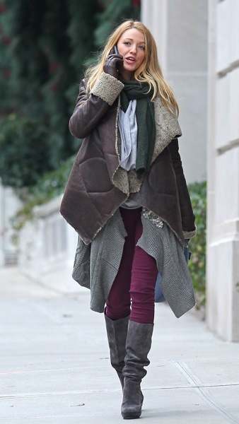 Blake Lively in layers