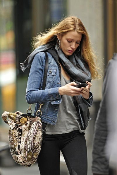 Blake Lively in denim