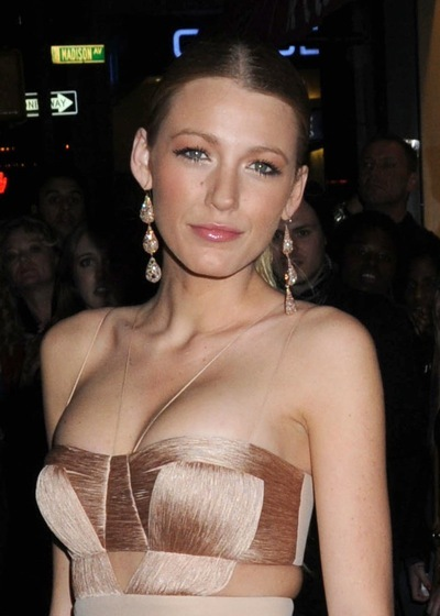 Blake Lively with a sleek hairstyle