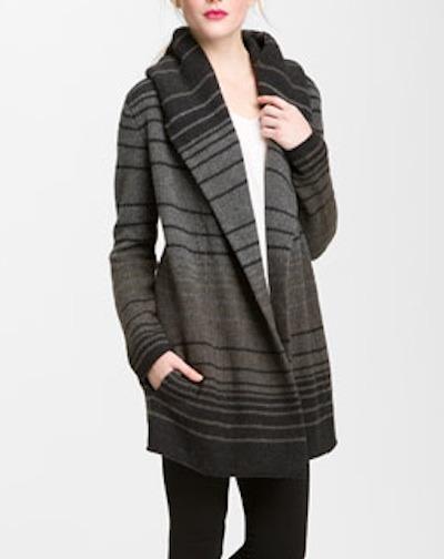 Stripe blanket sweater