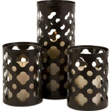 Norte Cutwork Candle Holders
