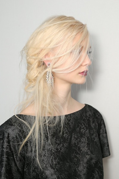 Blonde braid finished look
