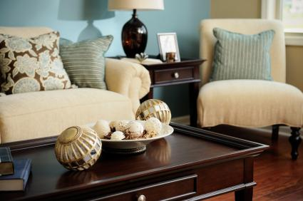 Blue, Brown & Cream - Living & family room ideas