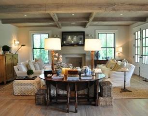 Jane Green's sitting room