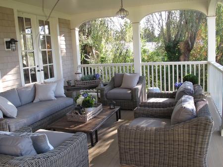 Jane Green's southern style porch