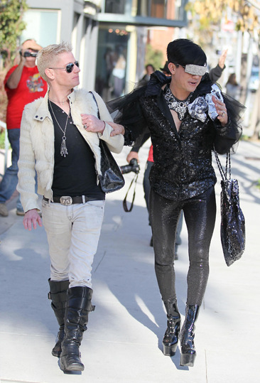 Bobby Trendy and his male companion go out in Beverly Hills