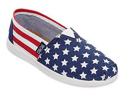 Girl's American flag shoes