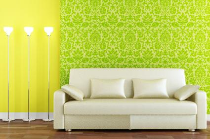 Bold Color and Fabric Wallpaper