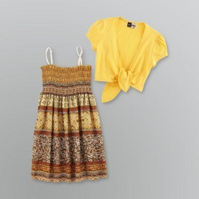 Smocked dress & shrug set
