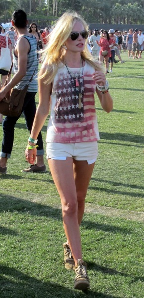 Kate Bosworth shows patriotism