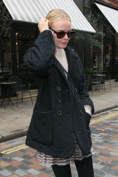 Kate Bosworth in a peacoat