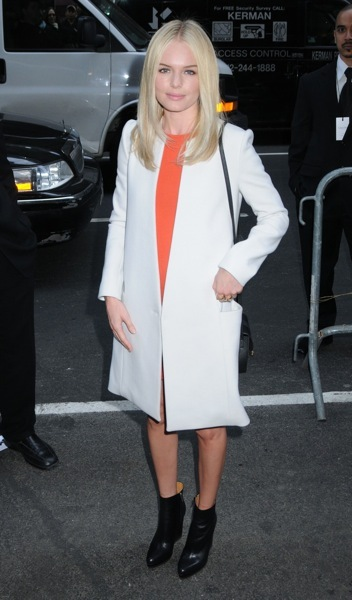 Kate Bosworth in a white coat