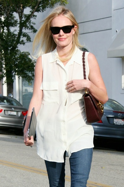 Kate Bosworth in a white tunic