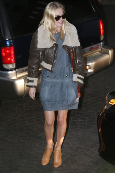 Kate Bosworth in a bomber jacket