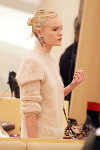 Kate Bosworth in an angora sweater