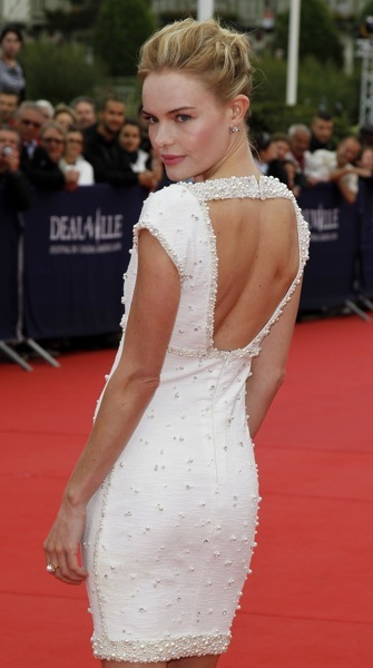 Kate Bosworth with an open back dress