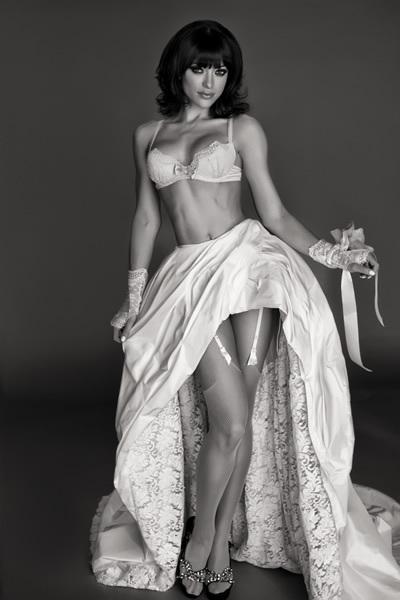 A boudoir bride