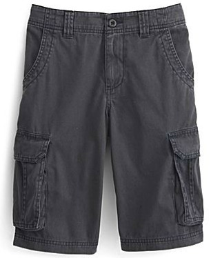 Boy's solid cargo shorts