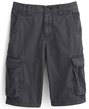 Boy's solid cargo shorts