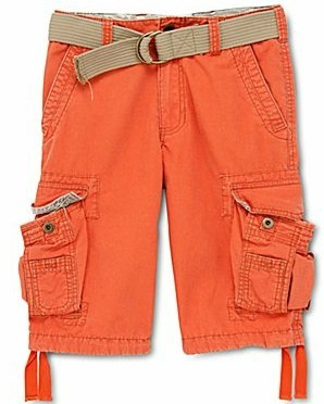 Boy&#039;s colored cargo shorts