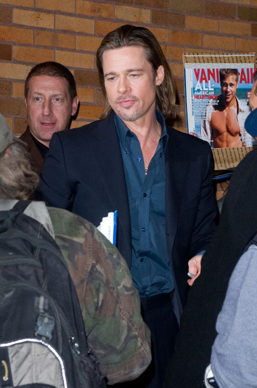 "Brad Pitt heads to ""The Daily Show"" in NYC"