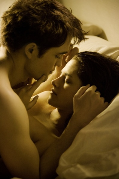 Still of Robert Pattinson and Kristen Stewart Breaking Dawn