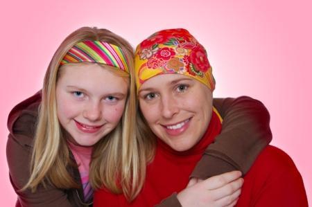 Breast cancer survivor and daughter