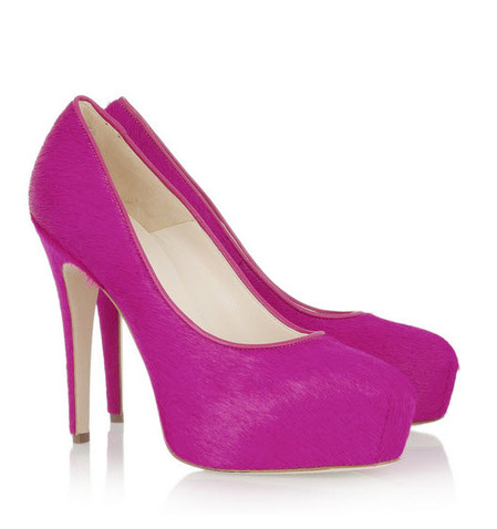 We melt for these Brian Atwood fuschia neon pumps.