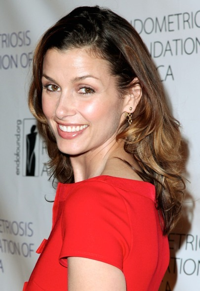 Bridget Moynahan's long, brunette hairstyle