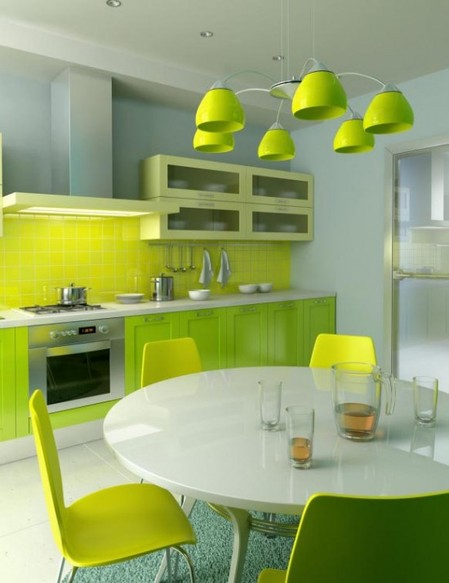 Bright Kitchens Simple Of Lime Green Kitchen Photos