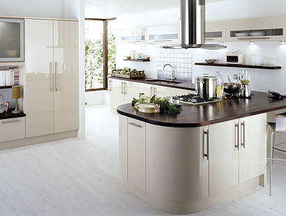 Bright kitchens sleek modern for Sleek modern kitchen cabinets