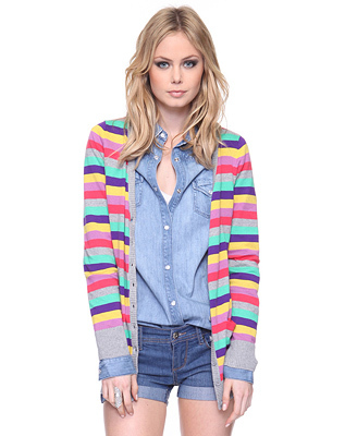 Forever 21 Bright Stripe Cardigan