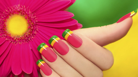 Bright and colorful nail designs