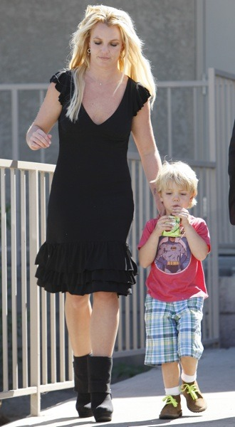Britney Spears in black dress