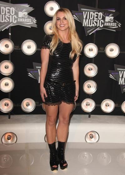 Britney Spears in platform boots