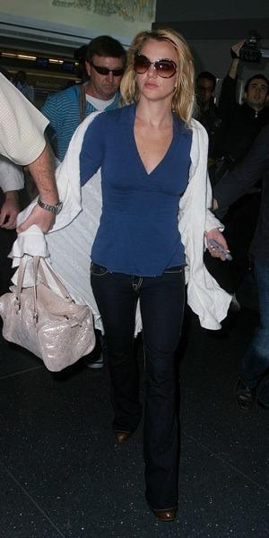 Britney Spears in v-neck