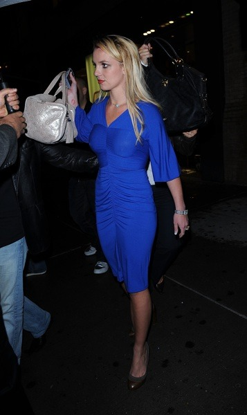 Britney Spears in electric blue