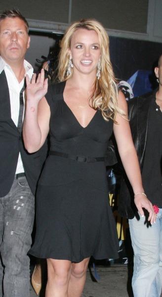 Britney Spears with satin belt